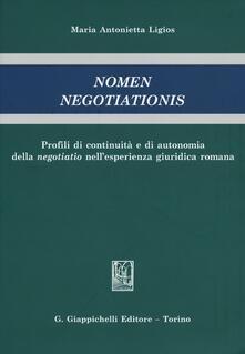Premioquesti.it Nomen negotiationis. Profili di continuità e di autonomia della negotiatio nell'esperienza giuridica romana Image