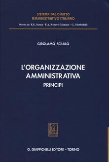 L organizzazione amministrativa. Principi.pdf