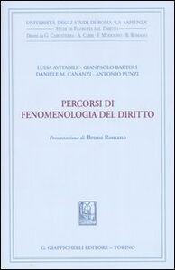 Libro Percorsi di fenomenologia del diritto