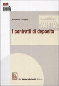 Libro I contratti di deposito Sandro Castro