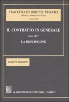 Daddyswing.es Il contratto in generale. Vol. 8: La rescissione. Image