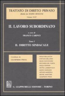 Il lavoro subordinato. Vol. 1: Il diritto sindacale..pdf
