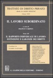 Il lavoro subordinato. Vol. 3: Il rapporto individuale di lavoro: estinzione e garanzie dei diritti.