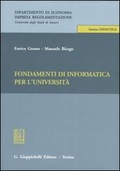 Fondamenti di informatica per l'università