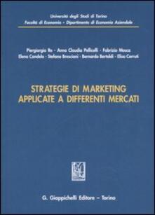 Strategie di marketing applicate a differenti mercati - copertina