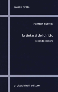 Libro La sintassi del diritto Riccardo Guastini