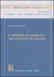 Il principio di variabilità nelloggetto del giudizio.pdf