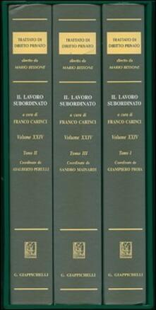 Fondazionesergioperlamusica.it Trattato di diritto privato. Vol. 24: Il lavoro subordinato. Image