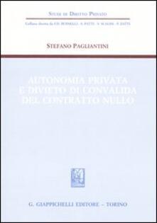 Ristorantezintonio.it Autonomia privata e divieto di convalida del contratto nullo Image