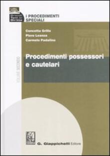 Warholgenova.it I procedimenti speciali. Vol. 2: Procedimenti possessori e cautelari. Image