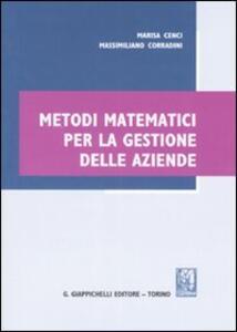 Metodi matematici per la gestione delle aziende