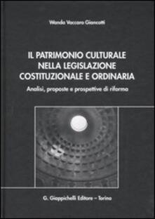 Antondemarirreguera.es Il patrimonio culturale nella legislazione costituzionale e ordinaria. Analisi, proposte e prospettive di riforma Image
