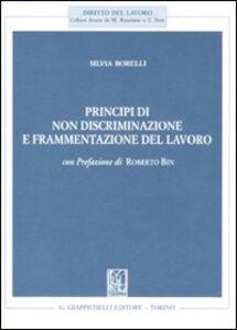 Libro Principi di non discriminazione e frammentazione del lavoro Silvia Borelli