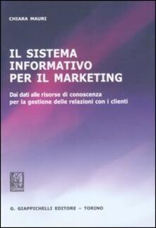 Rallydeicolliscaligeri.it Il sistema informativo per il marketing. Dei dati alle risorse di conoscenza per la gestione delle relazioni con i clienti Image