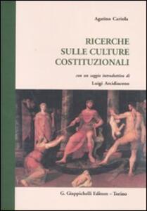 Ricerche sulle culture costituzionali