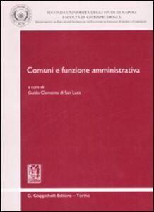 Libro Comuni e funzione amministrativa