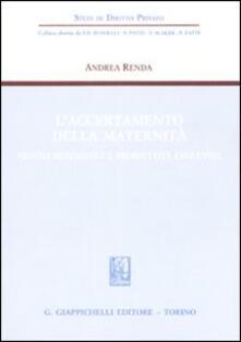 Milanospringparade.it L' accertamento della maternità. Profili sistematici e prospettive evolutive Image