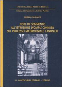 Foto Cover di Note di commento all'istruzione «dignitas connubii» sul processo matrimoniale canonico, Libro di Marco Canonico, edito da Giappichelli