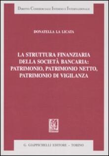 La struttura finanziaria della società bancaria: patrimonio, patrimonio netto, patrimonio di vigilanza.pdf
