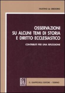 Filippodegasperi.it Osservazioni su alcuni temi di storia e diritto ecclesiastico. Contributi per una riflessione Image