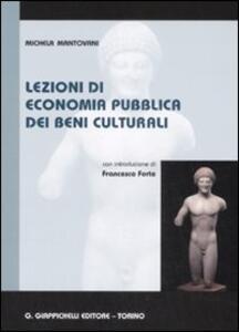 Lezioni di economia pubblica dei beni culturali