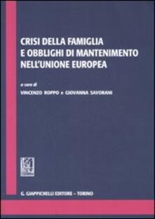 Crisi della famiglia e obblighi di mantenimento nellUnione Europa.pdf
