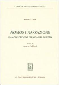 Foto Cover di Nomos e narrazione. Una concezione ebraica del diritto, Libro di Robert Cover, edito da Giappichelli