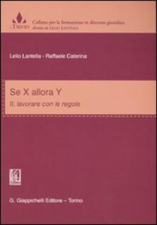 Se X allora Y. Vol. 2: Lavorare con le regole..pdf