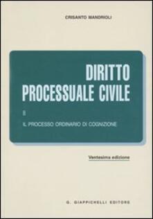 Amatigota.it Diritto processuale civile. Vol. 2: Il processo ordinario di cognizione. Image