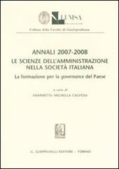 Annali (2007-2008). Le scienze dell'amministrazione nella società italiana. La formazione per la governance del paese