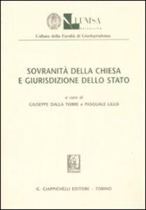 Foto Cover di Sovranità della Chiesa e giurispudenza dello Stato, Libro di  edito da Giappichelli