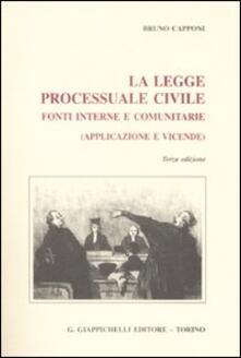 Daddyswing.es La legge processuale civile. Fonti interne e comunitarie (applicazione e vicende) Image