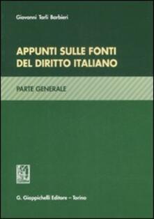 Associazionelabirinto.it Appunti sulle fonti del diritto italiano. Parte generale Image