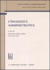 Libro L' invalidità amministrativa