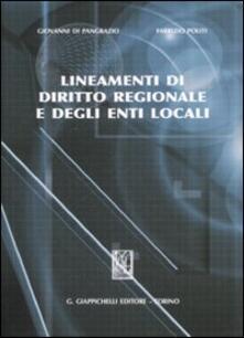 Librisulladiversita.it Lineamenti di diritto regionale e degli enti locali Image