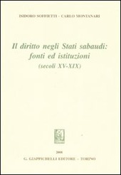 Il diritto negli Stati sabaudi. Fonti ed istituzioni (secoli XV-XIX)