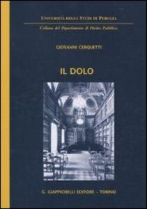 Libro Il dolo Giovanni Cerquetti