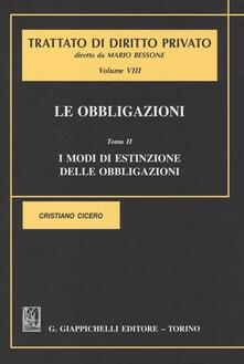Ilmeglio-delweb.it Le obbligazioni. Vol. 8\2: I modi di estinzione delle obbligazioni. Image