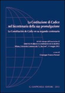 Cocktaillab.it La Costituzione di Cadice nel bicentenario della sua promulgazione-La Constitucion de Cadiz en su segundo centenario. Atti del Convegno... (Milano, 11 maggio 2012) Image