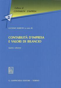 Foto Cover di Contabilità d'impresa e valori di bilancio, Libro di  edito da Giappichelli