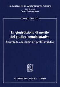 Libro La giurisdizione di merito del giudice amministrativo. Contributo allo studio dei profili evolutivi Filippo D'Angelo