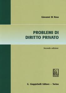 Problemi di diritto privato