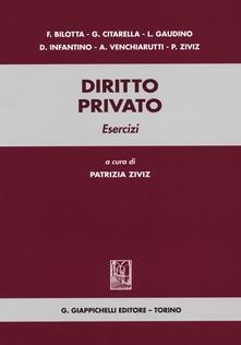 Ristorantezintonio.it Diritto privato. Esercizi Image