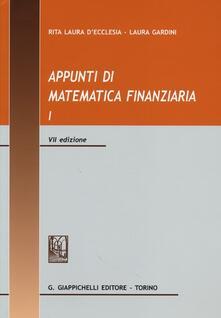 Antondemarirreguera.es Appunti di matematica finanziaria. Vol. 1 Image