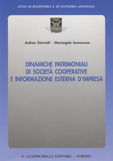 Aboutschuster.de Dinamiche patrimoniali di società cooperative e informazione esterna d'impresa Image