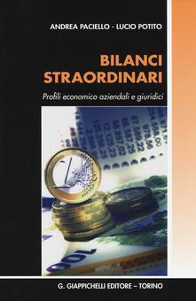Ilmeglio-delweb.it Bilanci straordinari. Profili economico aziendali e giuridici Image