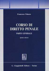 Corso di diritto penale. Parte generale