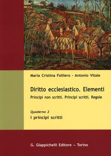 Antondemarirreguera.es Diritto ecclesiastico. Elementi. Principi non scritti. Principi scritti. Regole. Vol. 2: I principi scritti. Image