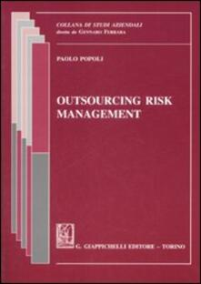 Aboutschuster.de Outsourcing risk management. Ediz. italiana Image