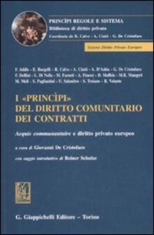 Listadelpopolo.it I «princìpi» del diritto comunitario dei contratti. Acquis communautaire e diritto privato europeo Image